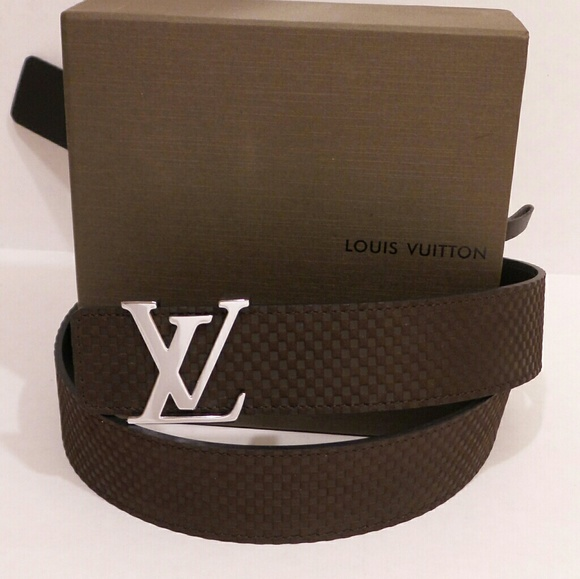 7aebe0db0b48 Louis Vuitton Other - Louis Vuitton LV 34 - 36 Waist Suede Belt Mens New